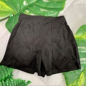Wilfred Black Suede Shorts